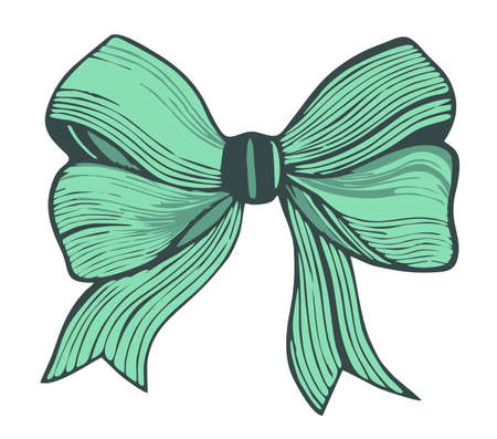 graphic: Graphic bow.Green