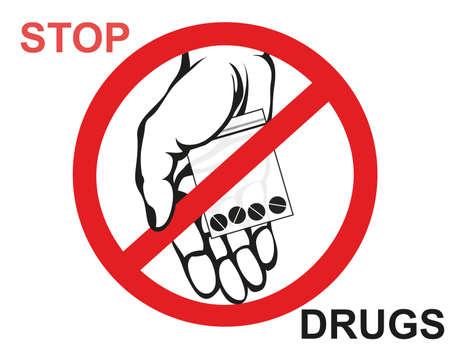 concept sans déclin offre le maillon de main . vecteur stop signe de l & # 39 ; affiche . affiche