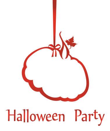Halloween party banner.