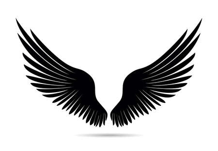Wings silhouette illustration. Illustration
