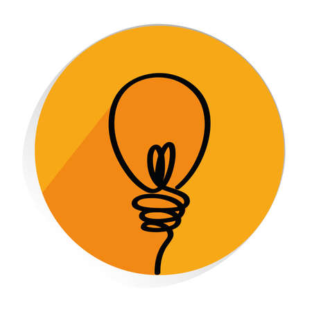 Light bulbs icon with concept of idea. Vector on white background. Contour line.