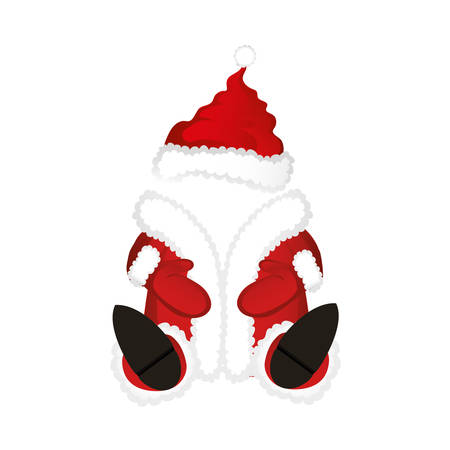 Santa Claus costume. Vector on white background