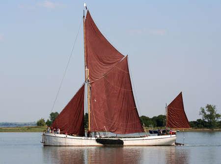 blackwater: Sailing on the Blackwater Estuary near Osea Island, Essex, UK Stock Photo