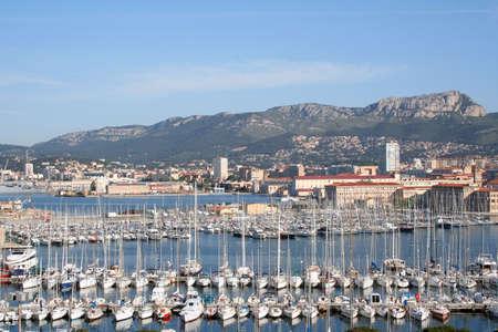 toulon: Toulon marina and mountains behind