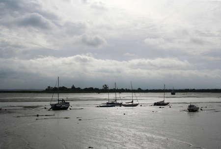 blackwater: very low tide on the Blackwater Estuary, heybridge basin, Essex, UK