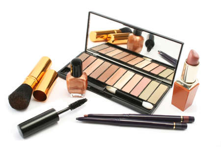 Various cosmetics in a group display photo