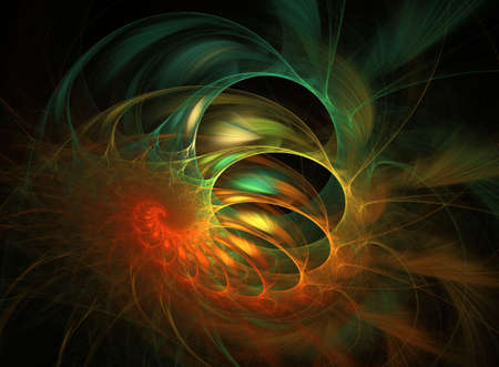 colourful design element - spiral/coil flame based fractal Stock Photo - 4822425