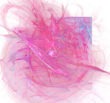 gauze: A cloud of pink smoke with a square shape inside - creative design element for cards, art projects, pamphlets etc