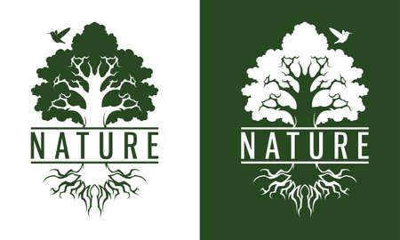 Hummingbird and tree logo for company