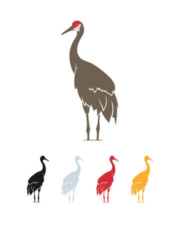 Vector illustration of stork.