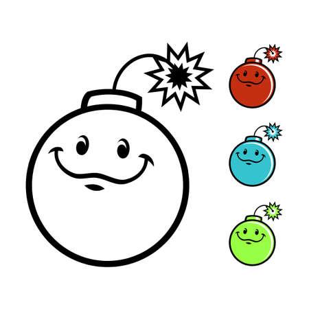 Cartoon bomb character