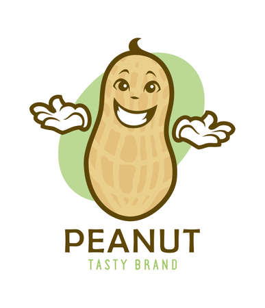 Cartoon peanut character