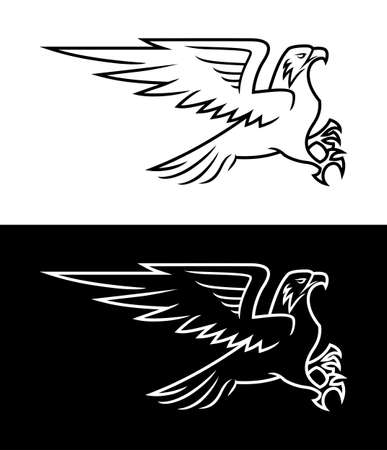 Flying eagle outline silhouette