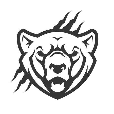 Bear head outline silhouette. Bear vector icon