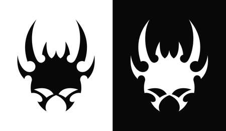 Monster devil mask cut out vector icon
