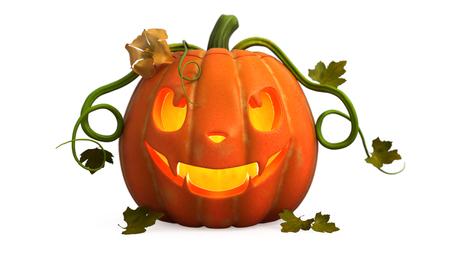 3D illustration of   a  halloween pumpkin