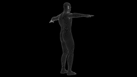 3d illustration of a man xray hologram Stock Photo