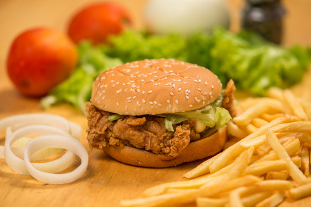 chiken: Chicken sandwich