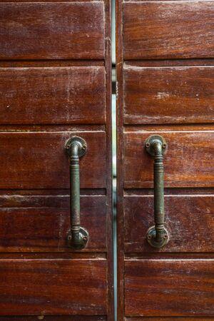 ironwork: Antique door handles Stock Photo