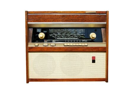 recollection: retro radio of our parents with music cutout Stock Photo