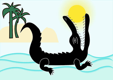 history about crocodile swallowed sun