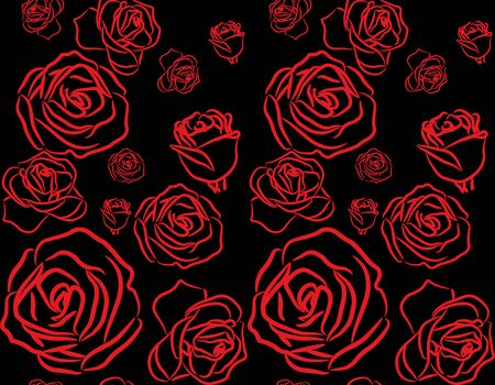 red rose on black background seamless