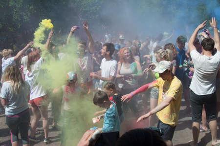 Ukraine, Donetsk region, Zugres may 27, 2018: holiday of colors in Zuevo landscape Park Stock Photo - 139316179