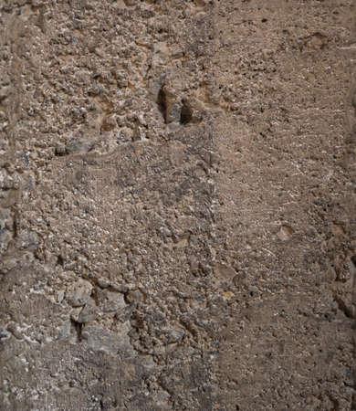 cement pole: crack concrete Stock Photo