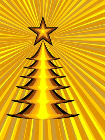 golden christmas tree, ex-USSR style photo