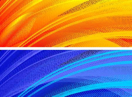abstract banners, stylized waves, place for text Stock Vector - 2646113