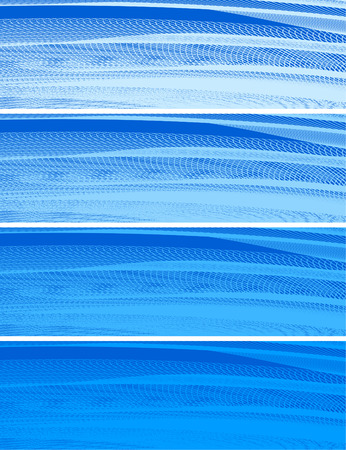 abstract banners, stylized waves, place for text Stock Vector - 2646111