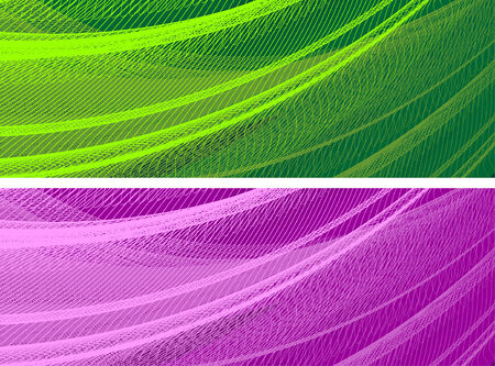 abstract banners, stylized waves, place for text Stock Vector - 2646112