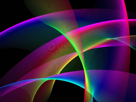 computer graphic design: abstract background, light show, place for text