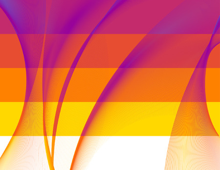 abstract 5 banners, stylized waves, place for text Vector