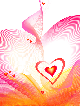 Valentine's background, hearts, place for text Stock Vector - 2672075