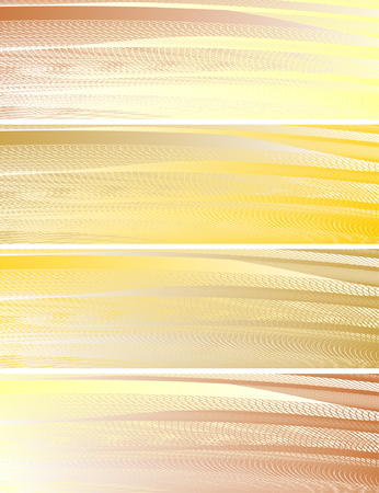 abstract banners, stylized waves, place for text Vector