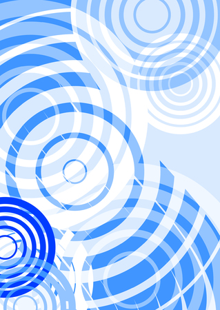 water ripples: retro background, vector circle effect, place for text