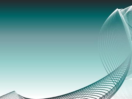 place for text: resumen de antecedentes, estilizada olas, el lugar para el texto Vectores