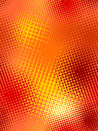 halftone: seamless pattern, vector halftone effect, illusion of the gradient Illustration