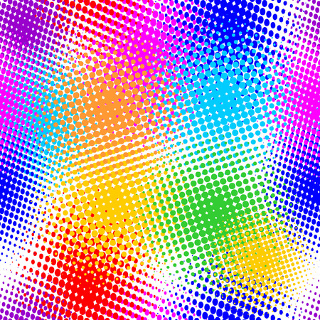 seamless pattern, vector halftone effect, illusion of 
