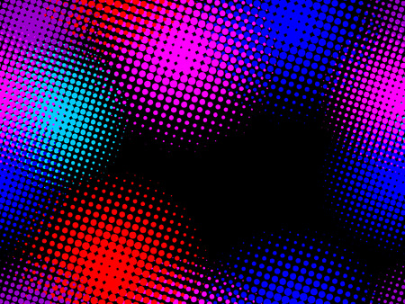 seamless pattern, vector halftone effect, illusion of  the gradient  Vector