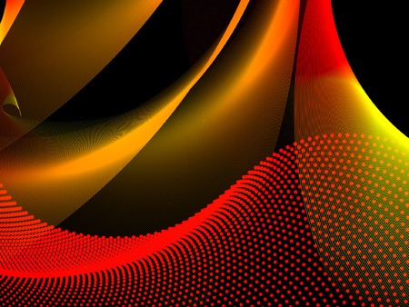 banner effect: abstract background, vector without mesh, use only linear gradient Illustration