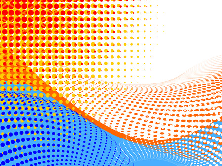 vector halftone effect, illusion of the gradient, place 