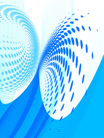 vector halftone effect, illusion of the gradient, place for text Stock Vector - 2934082