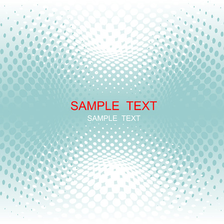 vector halftone effect, illusion of the gradient, place for text Illustration