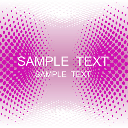 vector halftone effect, illusion of the gradient, place for text Stock Vector - 3076821