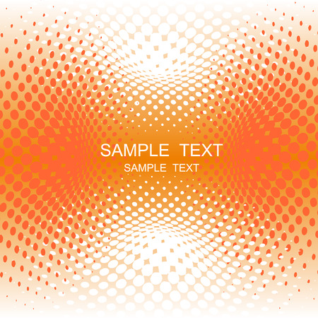 vector halftone effect, illusion of the gradient, place for text Stock Vector - 3077056