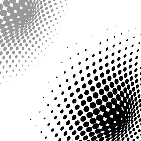 arrière-plan abstraite, effet de trame de demi-teintes vecteur, illusion du dégradé, lieu de texte