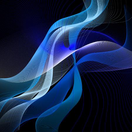 fumo blu: astratto sfondo, il vettore, stilizzata onde, luogo per il testo
