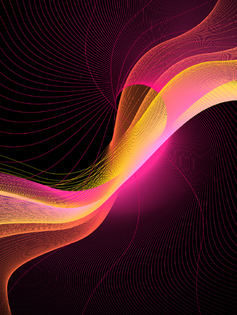 abstract background, vector, stylized waves, place for text Vector